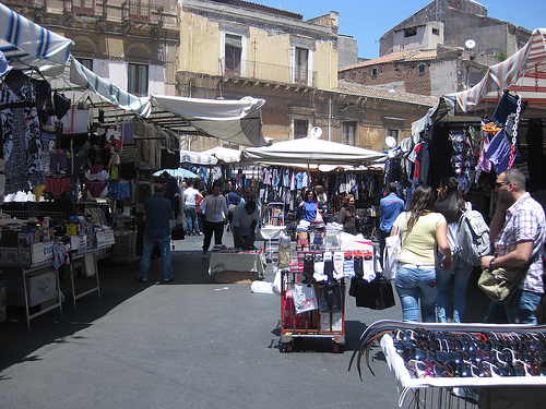 Shopping a Catania - strade piene